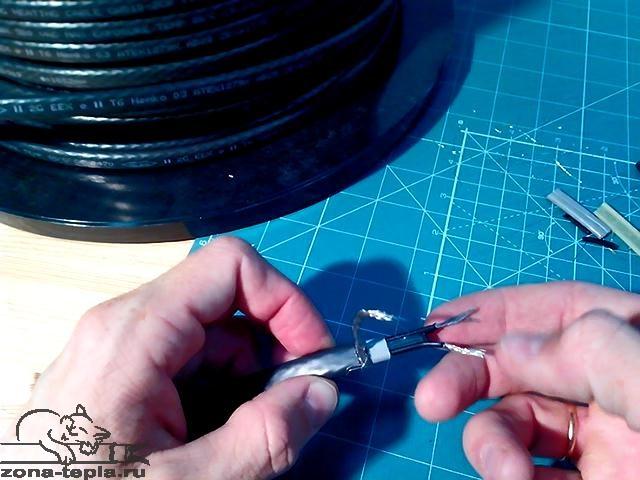Саморегулирующийся нагревательный кабель Lavita GWS 10-2CR. для обогрева труб