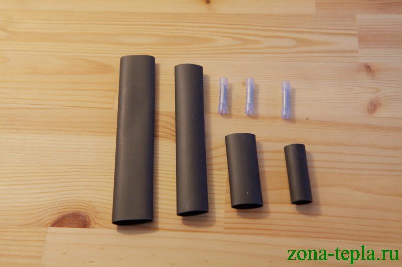 комплект для заделки - термоусадочные трубки с клеевым подслоем