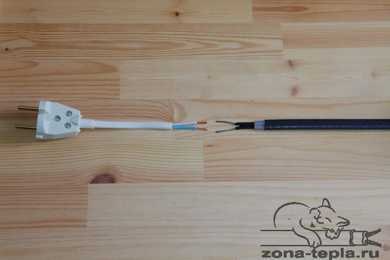 Саморегулирующийся нагревательный кабель-схема подключения-без подключенияэкрана