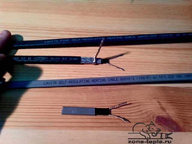 Сравнение греющих кабелей Lavita GVS 10-2(без заземления) и Lavita GVS10-2CR(с заземлением)
