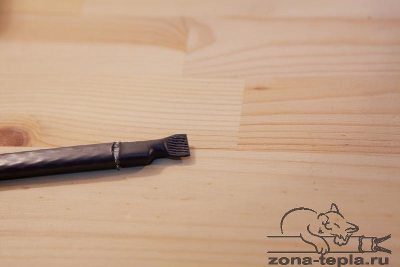 Саморегулирующийся нагревательный кабель-подключение-обрезаем