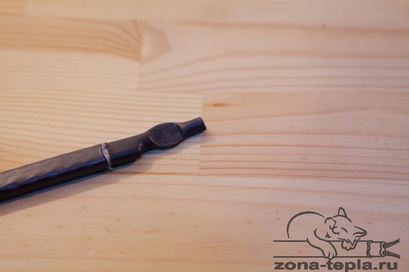 Саморегулирующийся нагревательный кабель-подключение-склеиваем