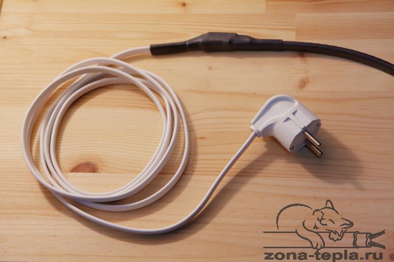 Саморегулирующийся нагревательный кабель-подключение готово