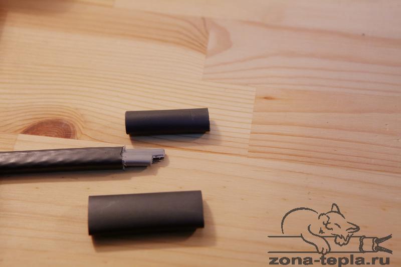 Трубки для задетки конца саморегулирующегося нагревательного кабеля