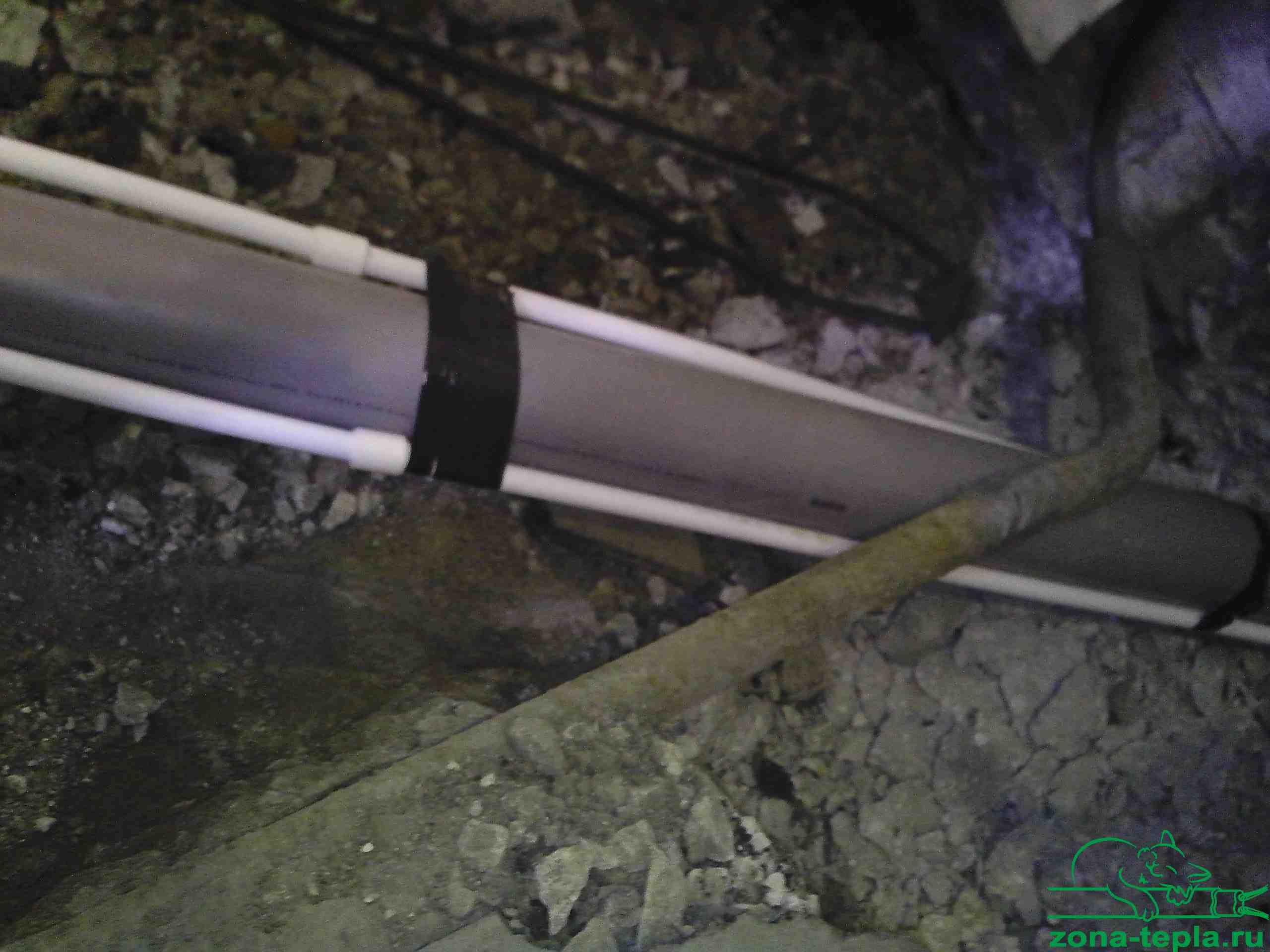 Обогрев водопровода и канализации греющим кабелем-так было