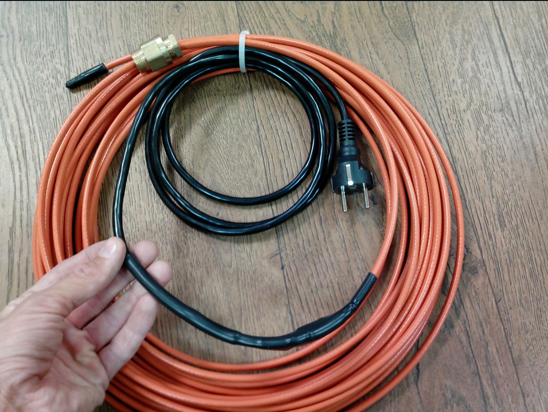 Греющий кабель внутри трубы DVU13-готовый комплект