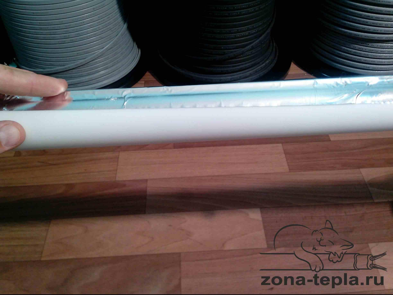 монтаж саморегулирующегося нагревательного кабеля на пластиковую трубу