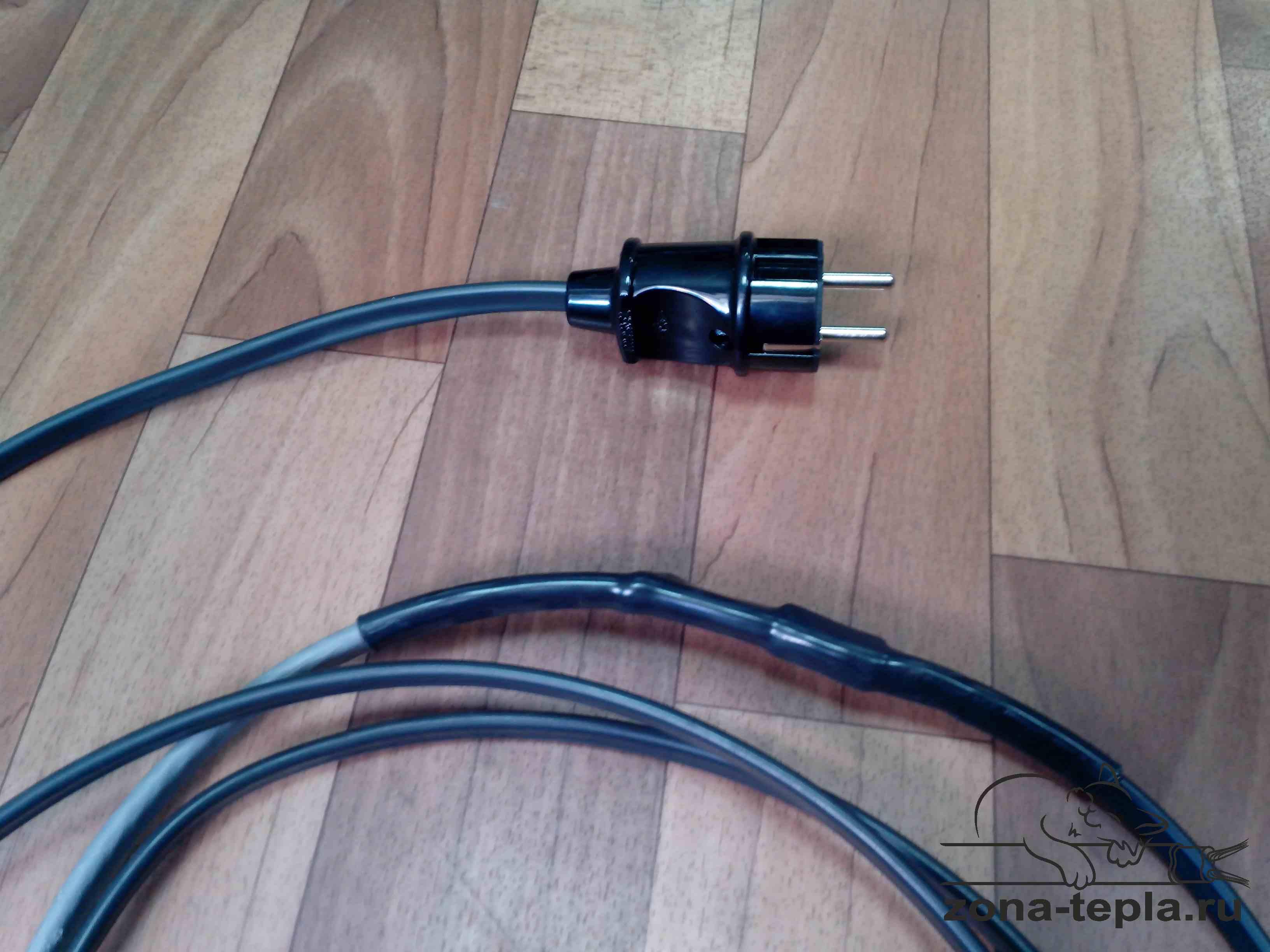 Комплект греющего кабеля - вилка