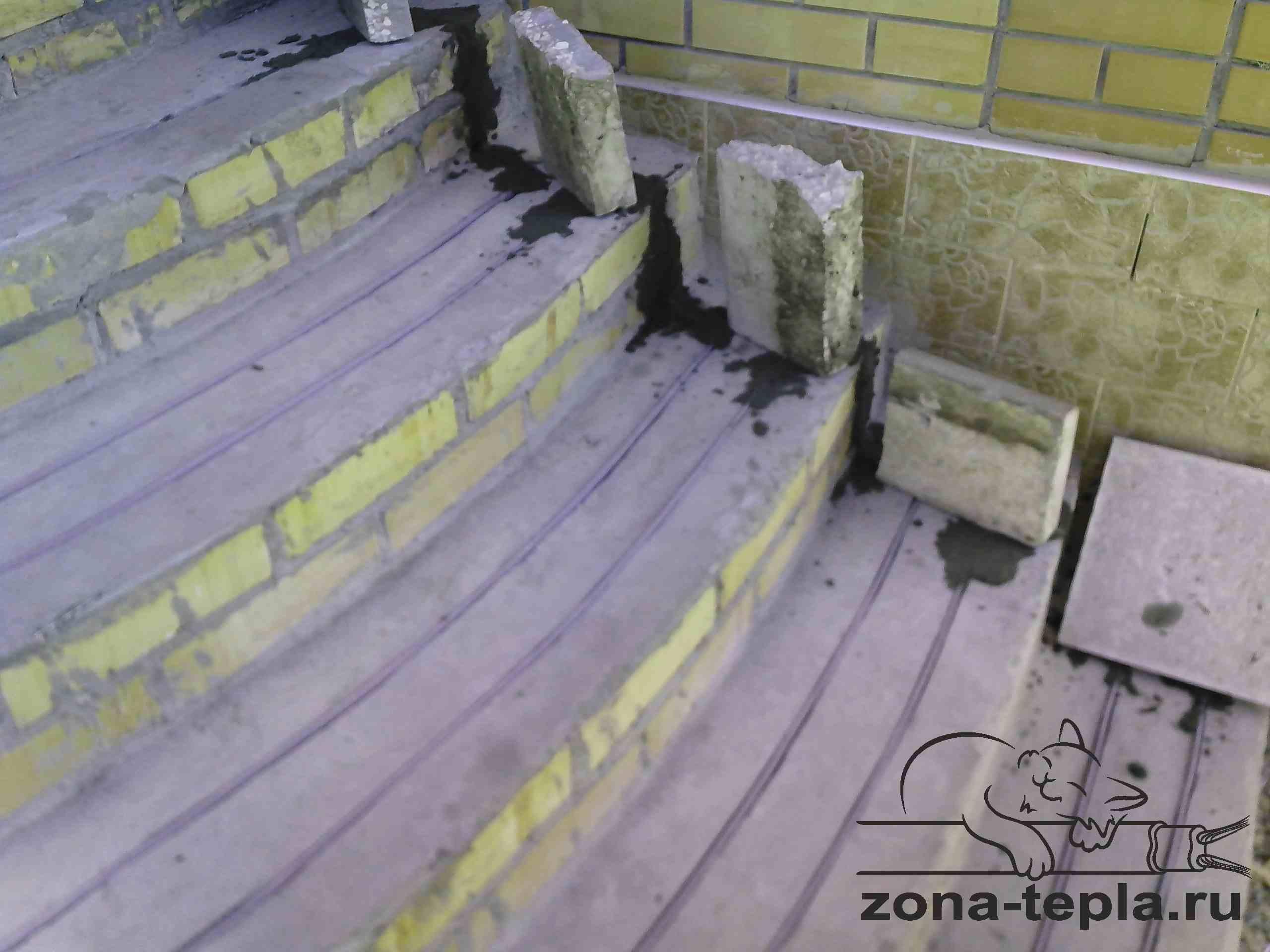обогрев открытых площадок-обогрев ступеней