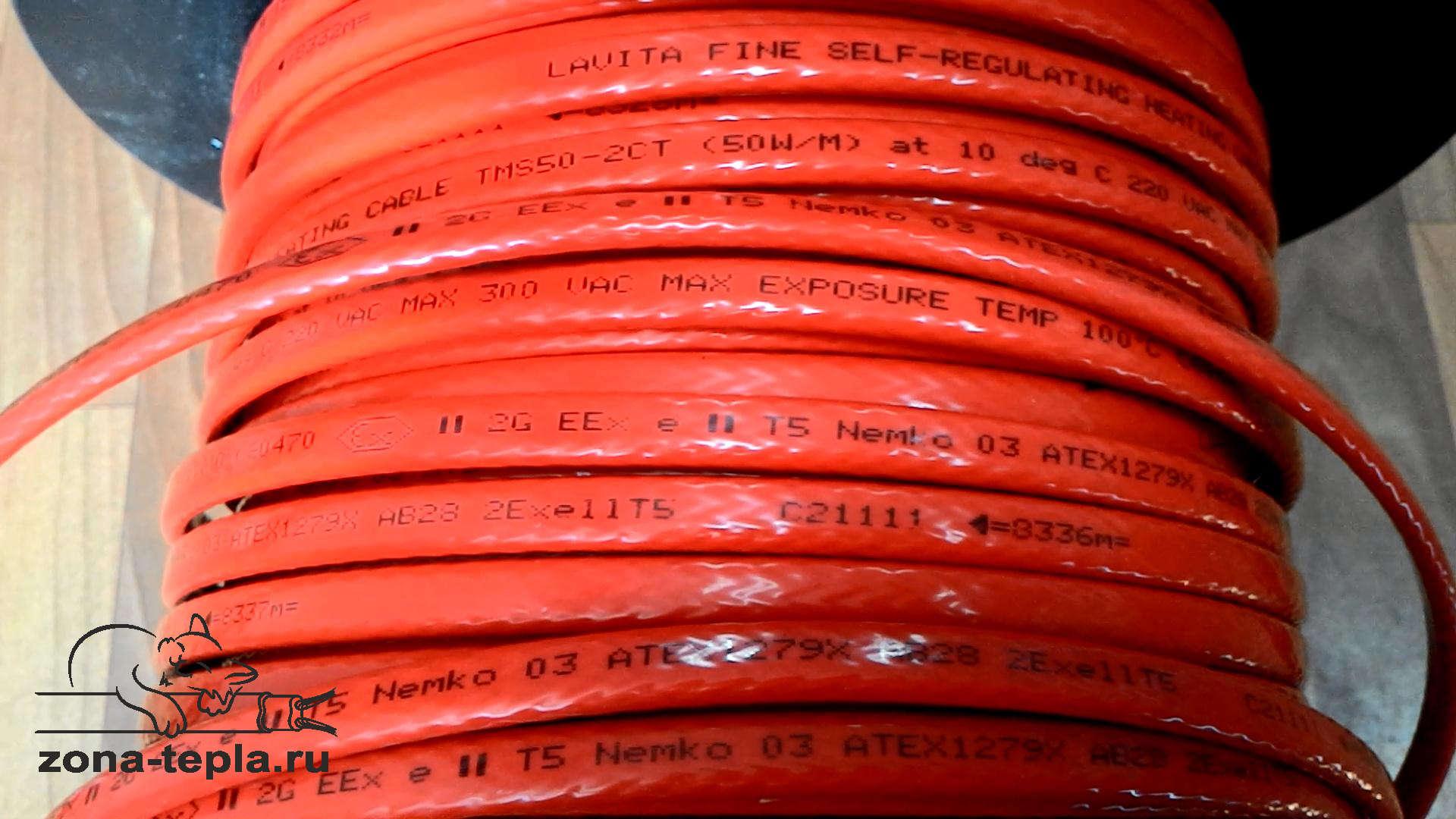 Промышленный греющий кабель ТМС 50-CТ