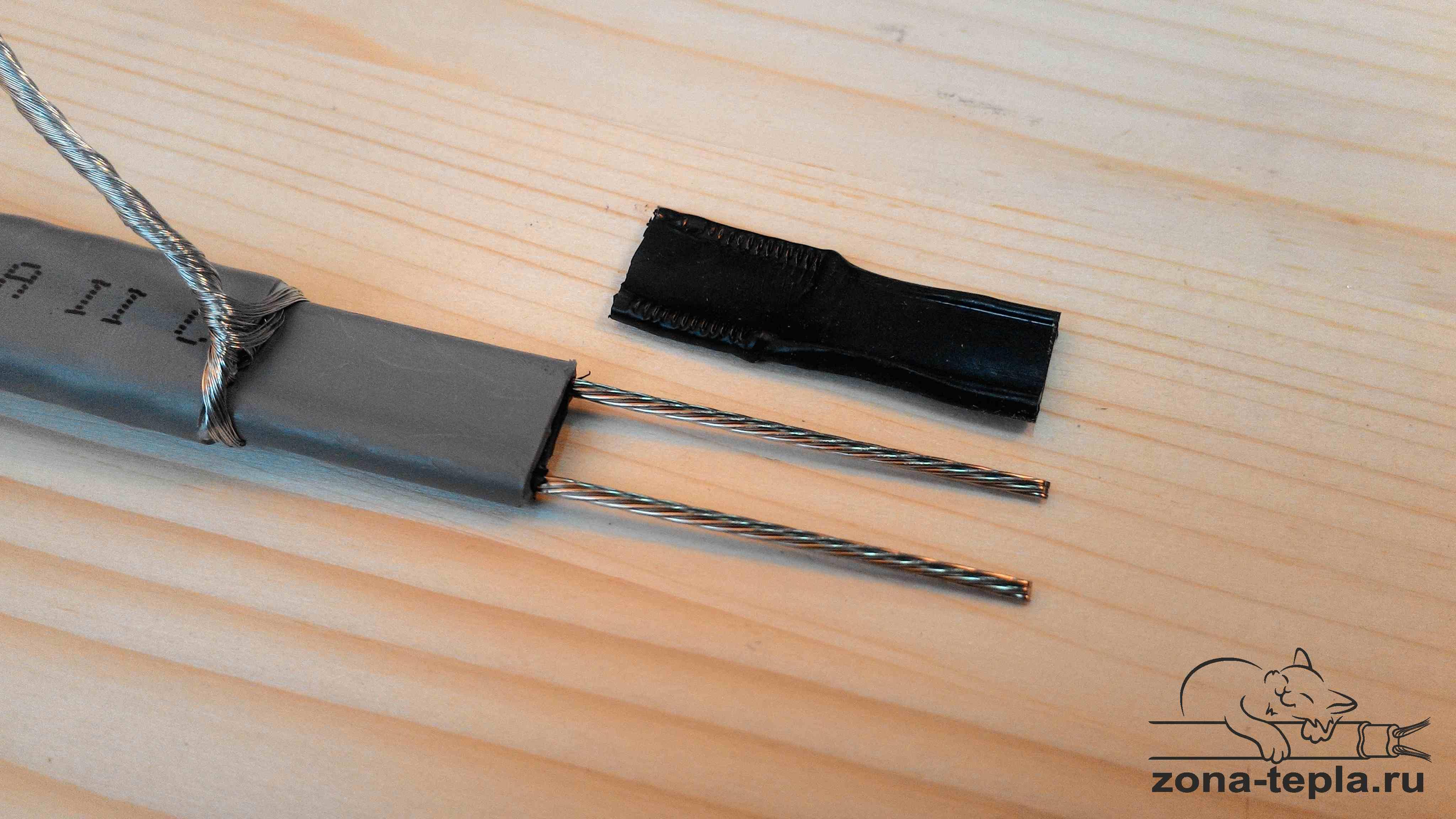 Подключение саморегулирующего греющего кабеля. 12-матрица должна сниматься легко