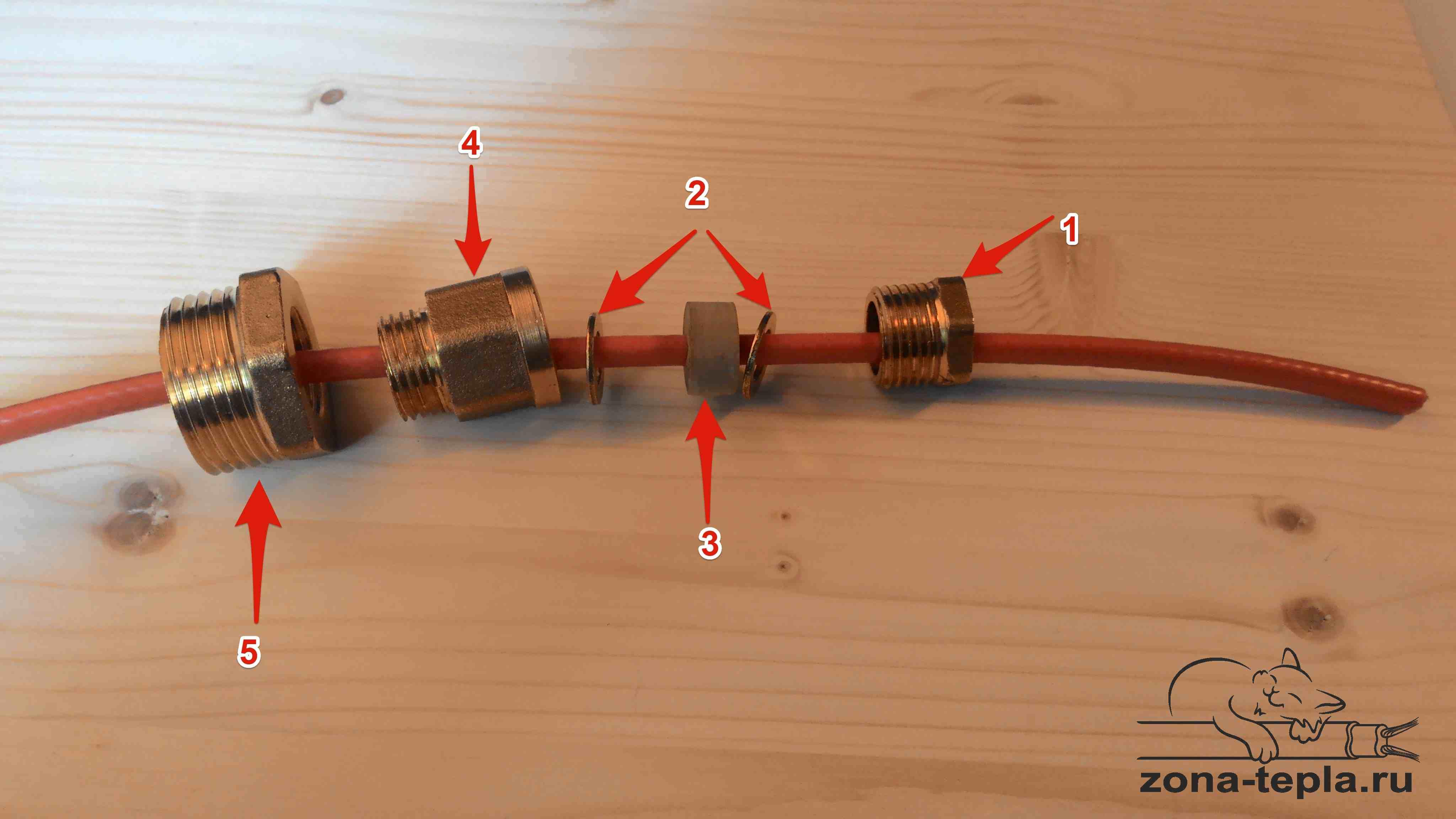 Сальник для ввода кабеля в трубу
