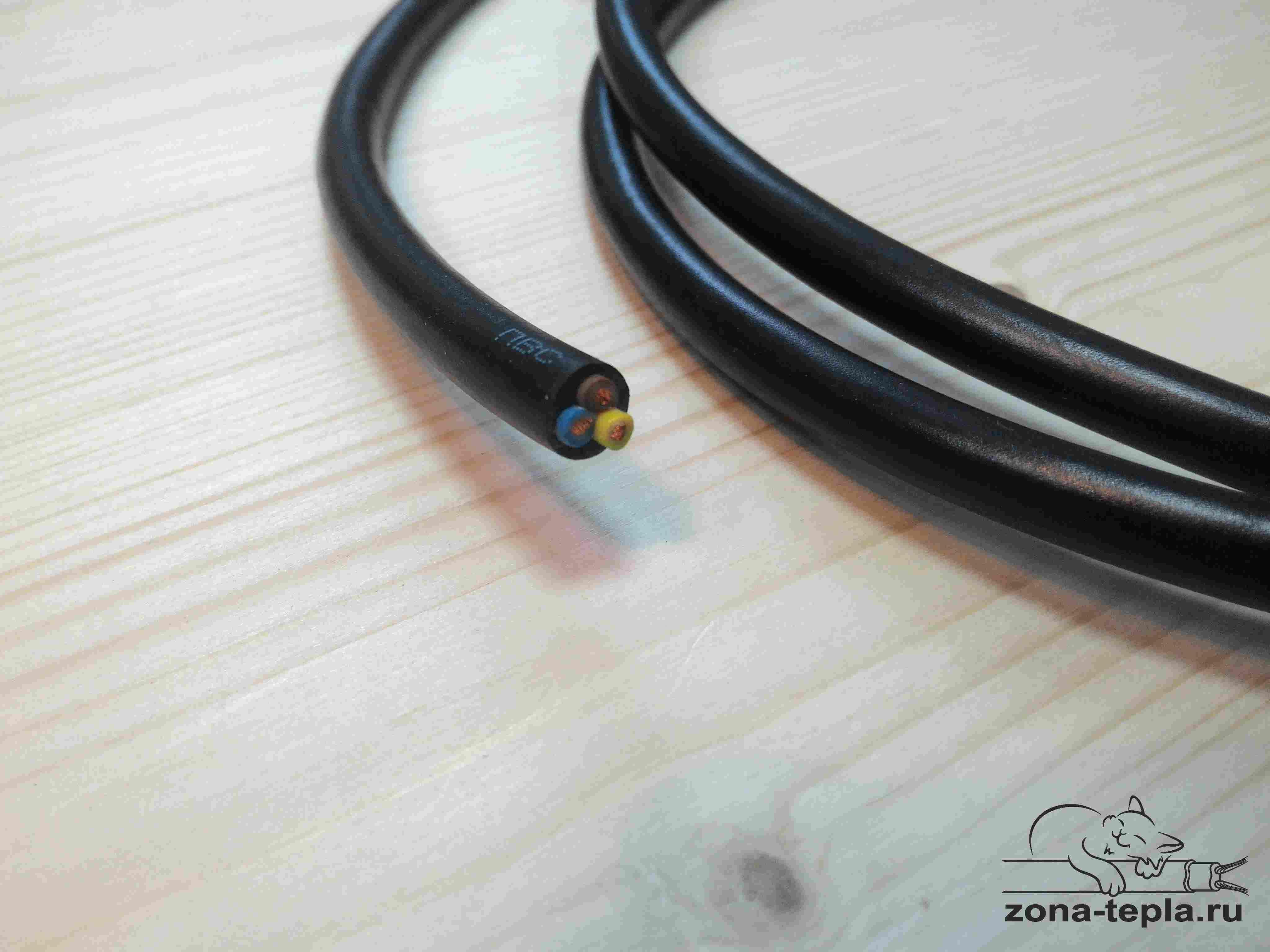 Шнур сетевой для греющего кабеля