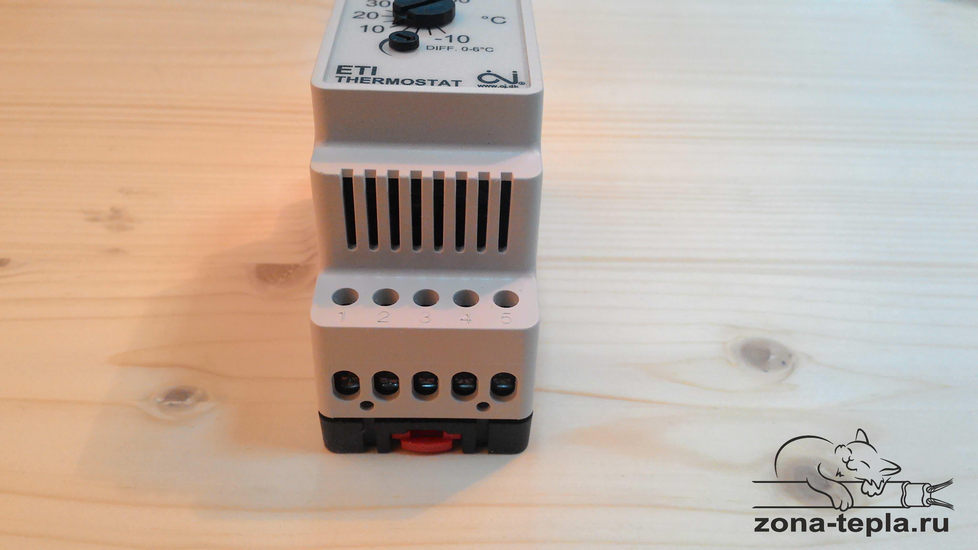 Терморегулятор для греющего кабеля обогрева труб водопровода ETI-1551
