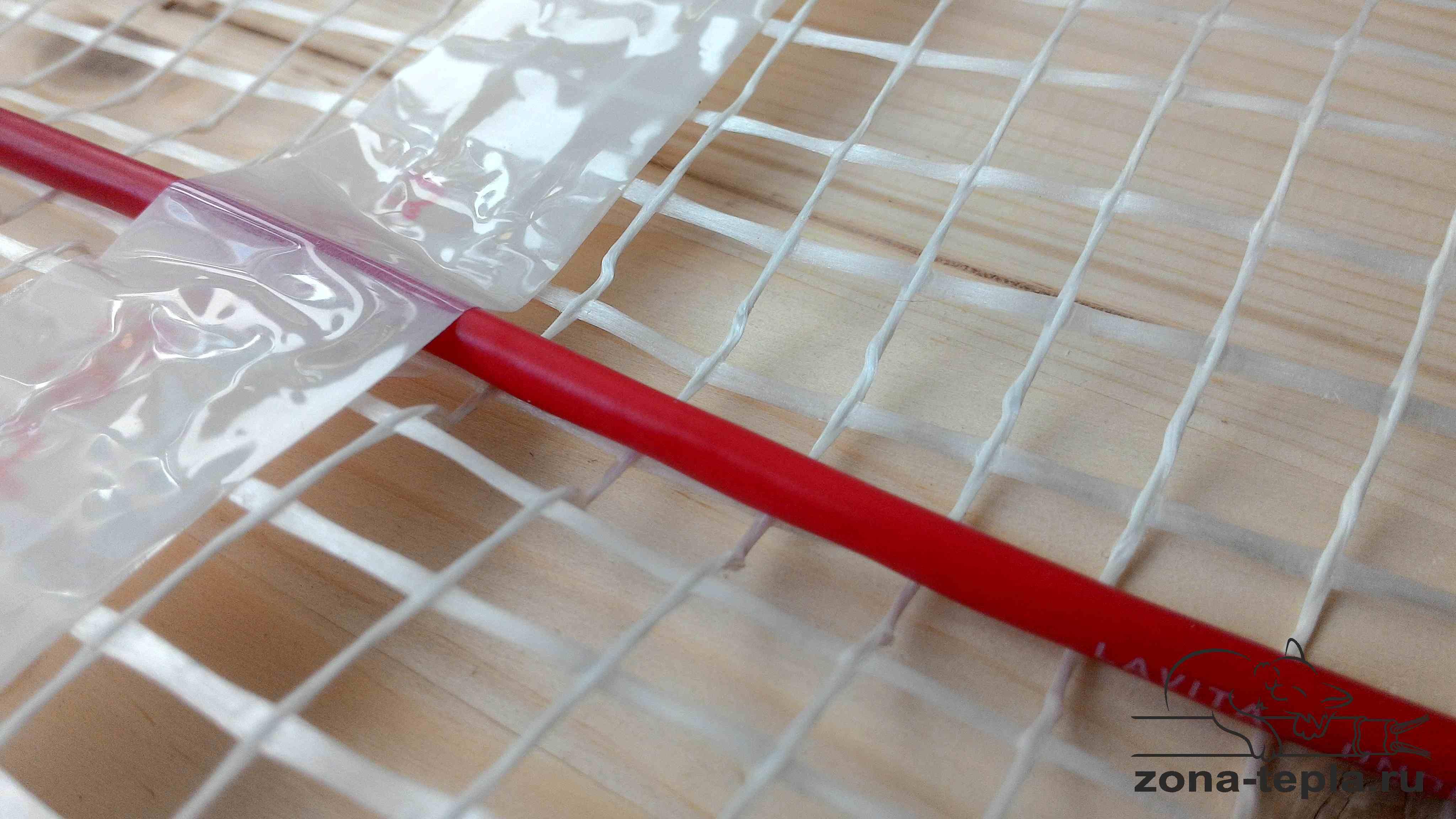 Крепление греющего кабеля к сетке на мате -теплый пол под плитку электрический