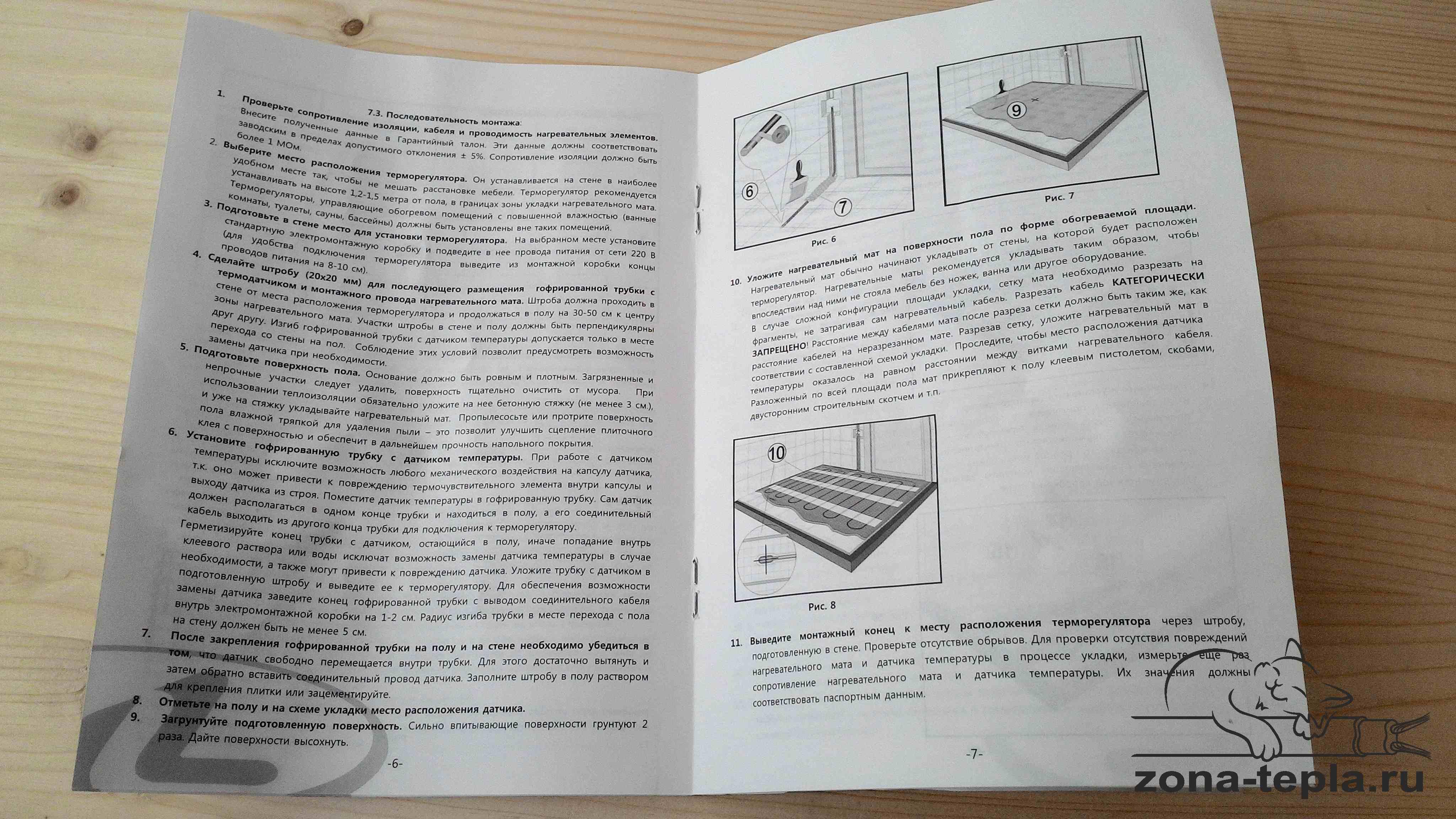 Теплый пол под плитку электрический на мате Лавита-инструкция