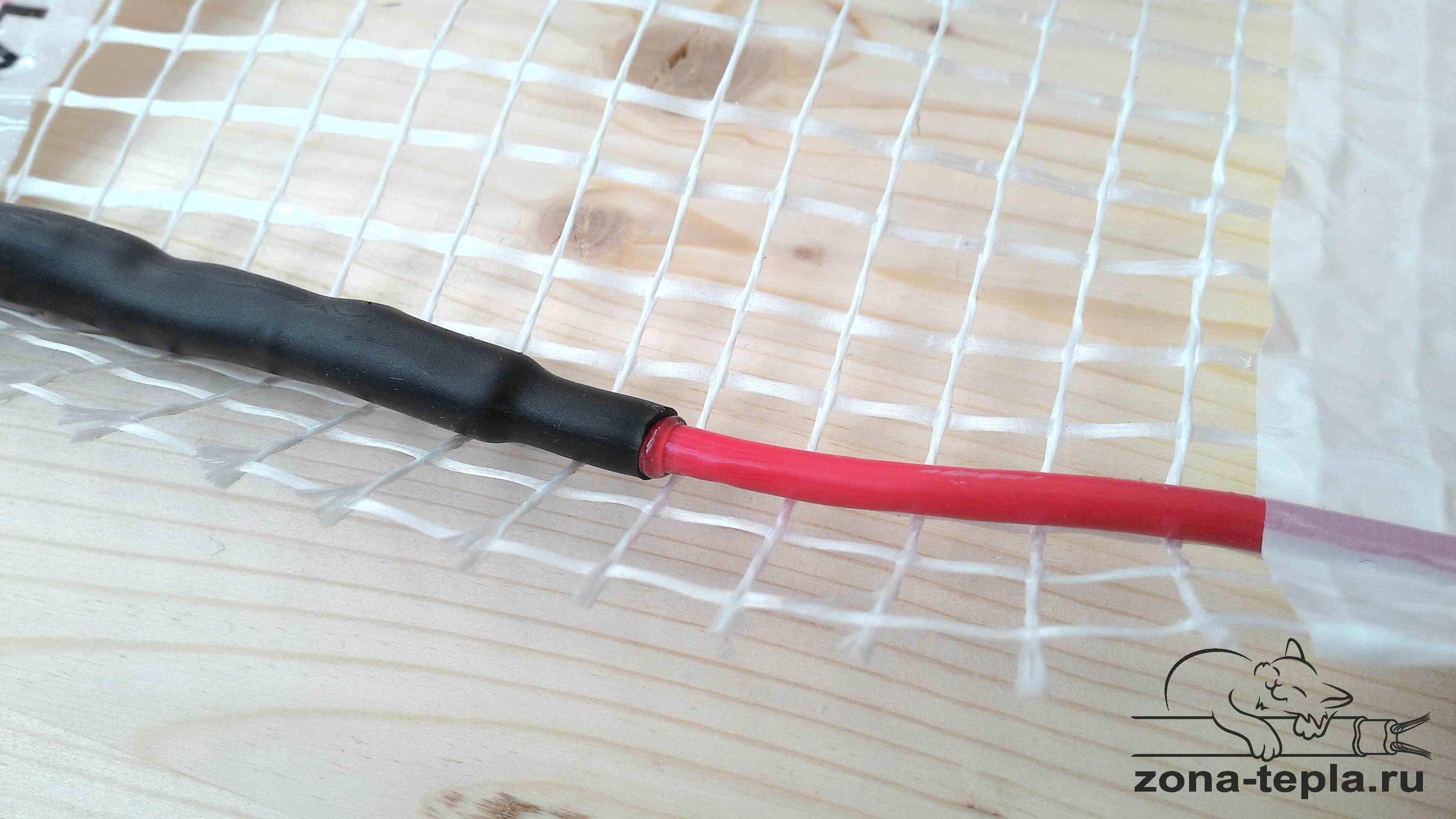 Теплый пол под плитку электрический - соединительная муфта