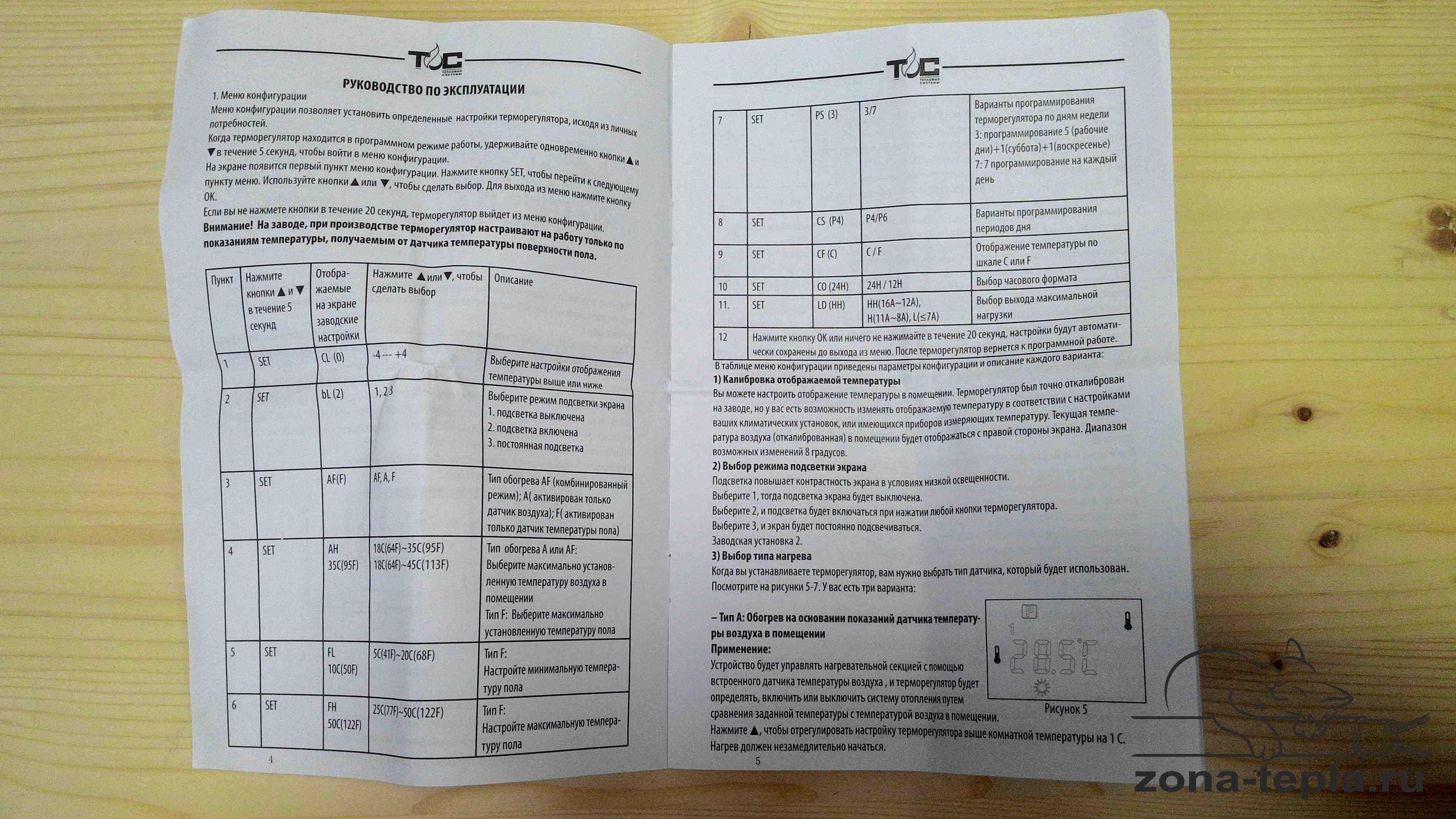 Терморегулятор для теплого пола TC-402 инструкция стр 2