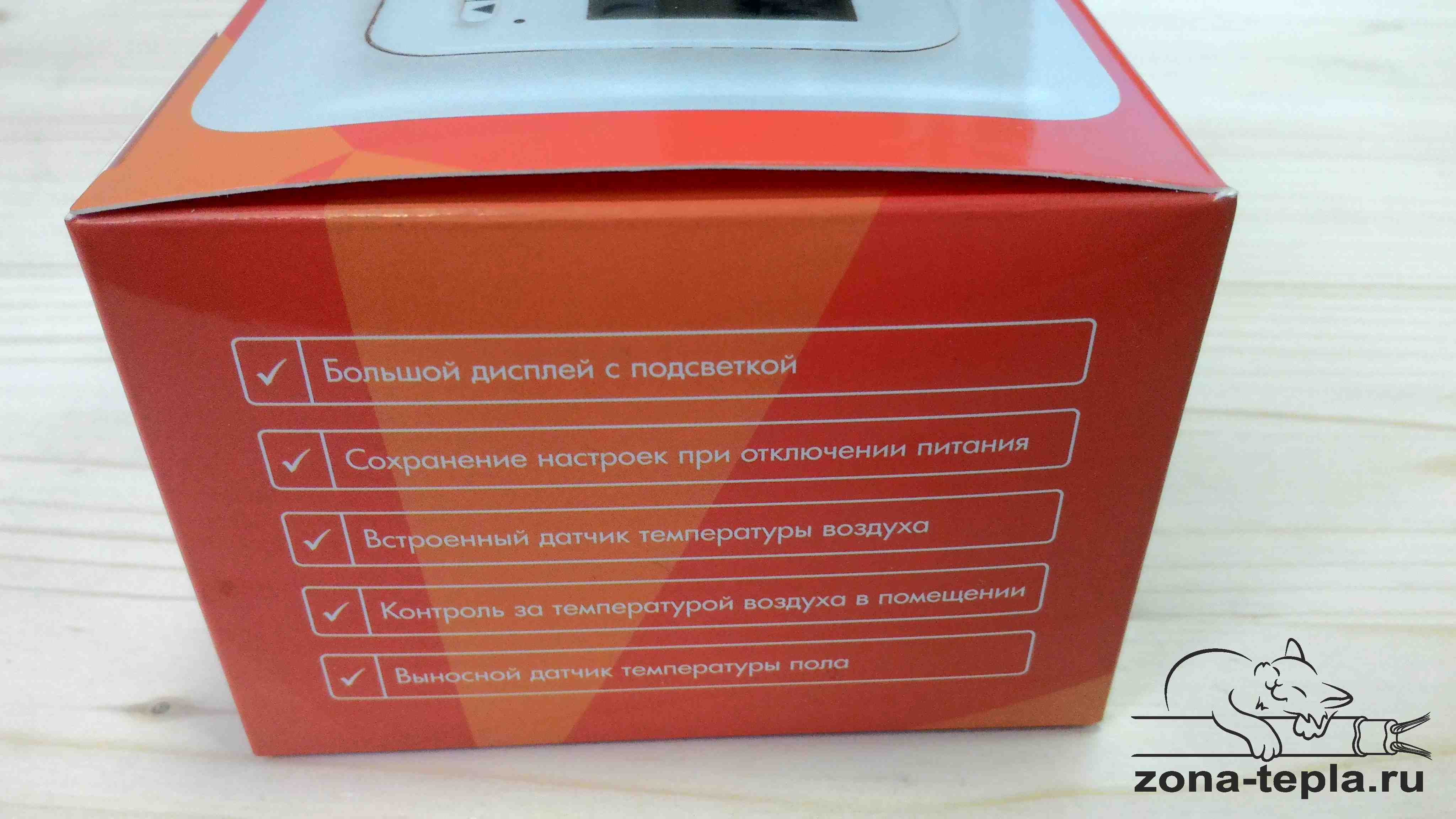 Терморегулятор для теплого пола TC-402 упаковка