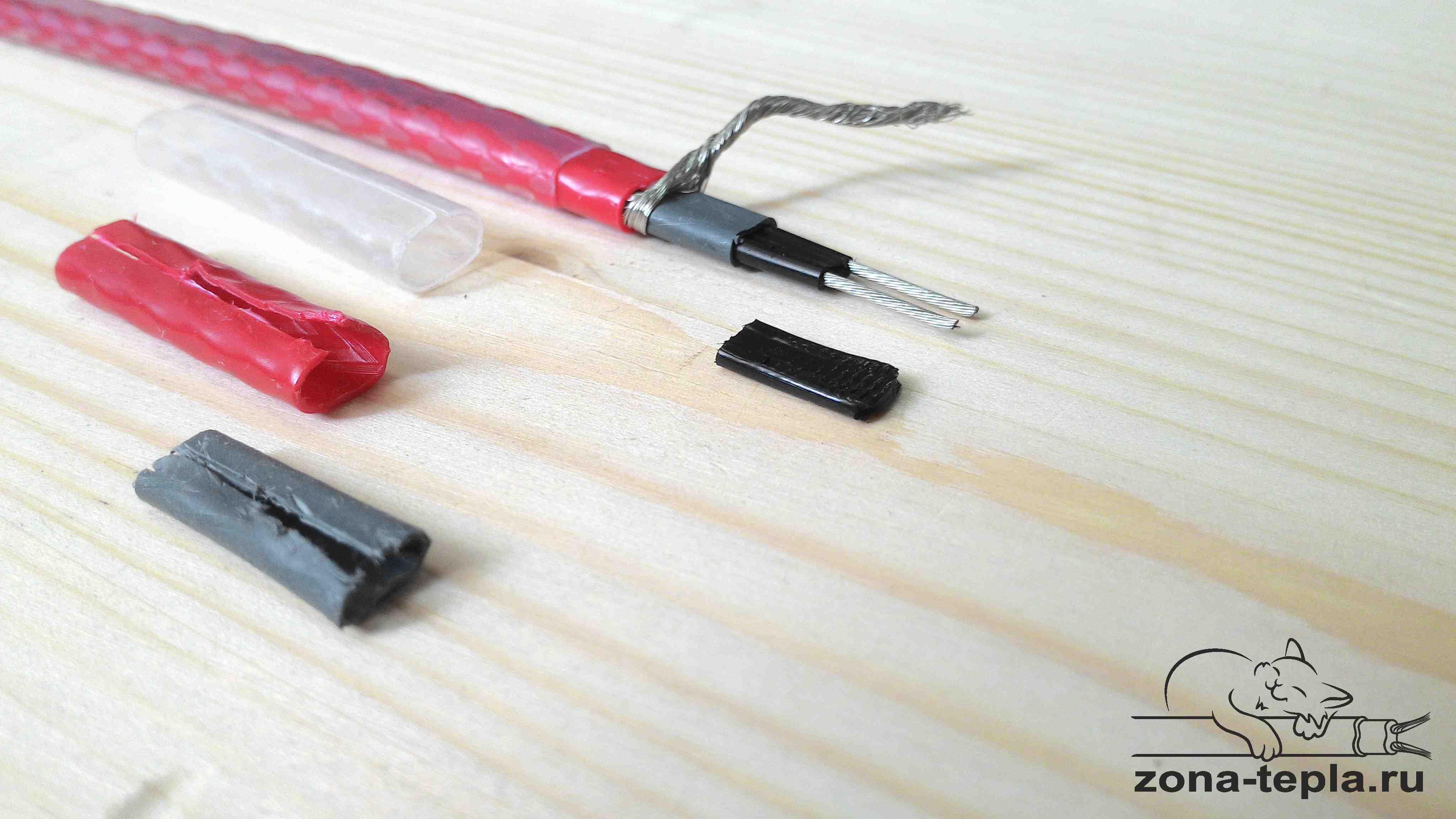 Греющий кабель для водопровода внутри трубы 13MSH2-CR