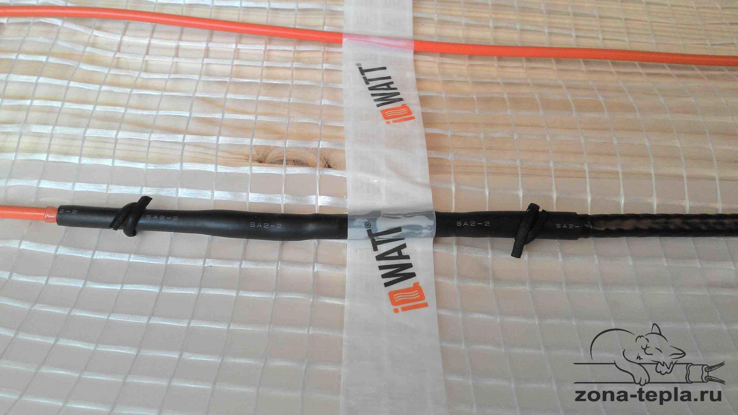 Теплый пол электрический iq watt floor mat соединительная муфта
