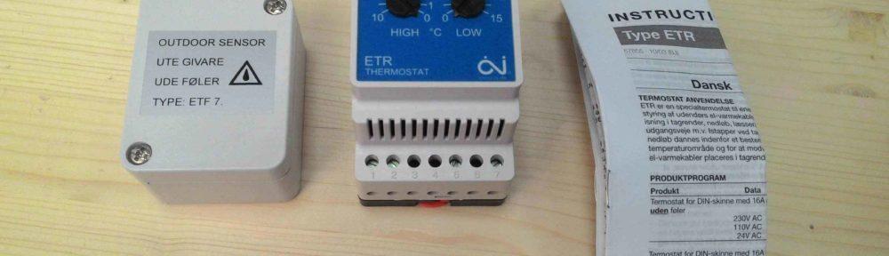 Термостат для водостоков ETR-F 1447A