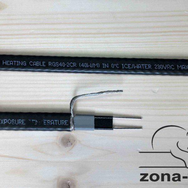 Обогрев кровли - нагревательный кабель RGS40-2CR