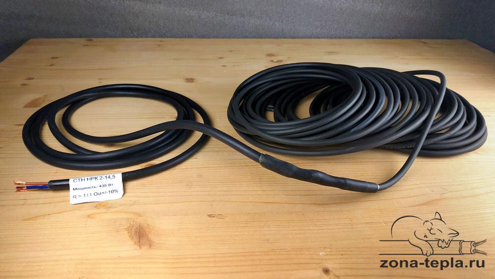 Греющий кабель НРК-30 внешний вид сбоку